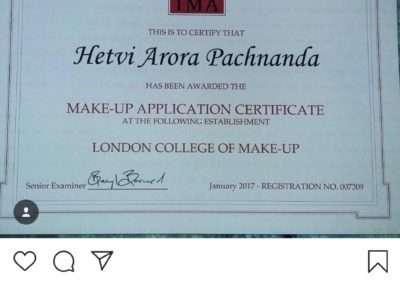 Testimonials of Hetvi Arora Pachnanda