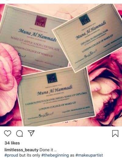 Testimonials of Muna Al Hammadi